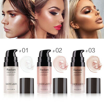 SACE LADY Face Highlighter Cream Liquid Illuminator Makeup Glow Brighten