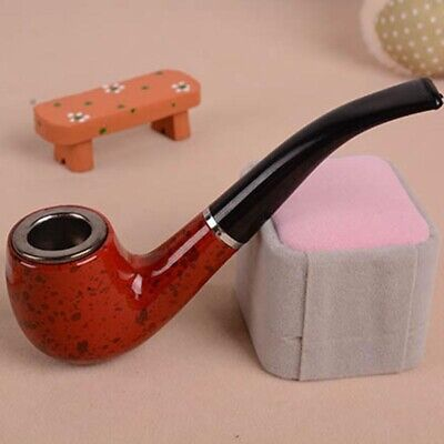 Rosewood Smoking Wooden Look Pipe For Tobacco Good Quality Present New