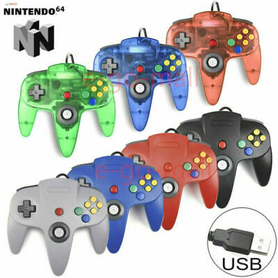 Wired N64 USB Controller Gamepad for Windows PC MAC Linux Raspberry Pi 3