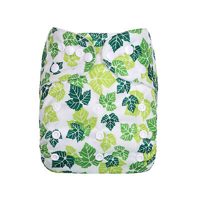 New Reusable Modern Cloth Nappy (MCN) + FREE insert – Green Leaf - Tree Leaves