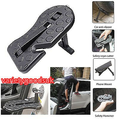 for Jeep SUV Truck Roof Folding Car Door Latch Hook Step Mini Foot Pedal Ladder