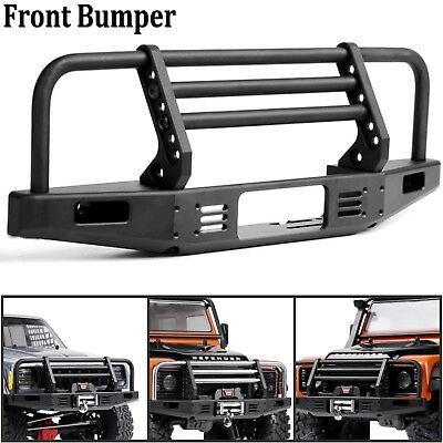 Metal Front Bumper Guard Defender + Lamp Cord For Traxxas TRX4 SCX10 90046 90047