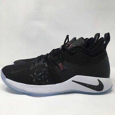 776d08241cf4 Nike PG 2 Taurus Mens Black Solar Red White Basketball Shoes Size 12  AJ2039-003