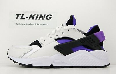 25ae59bde009 NIKE AIR HUARACHE Run 91  Qs Ah8049-001 Black Purple White Ds Size ...