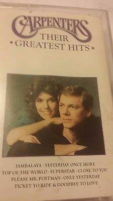 CARPENTERS THEIR GREATEST HITS   cassette tape.  (288)