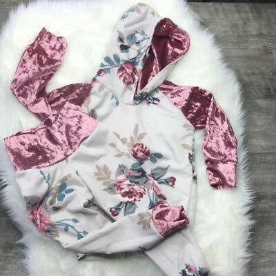 AU Toddler Baby Girl Floral Hoodie+Pants Leggings Outfit 2Pcs Clothes Tracksuit