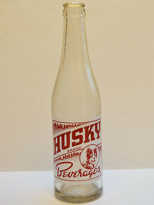 Vintage Husky Dog Beverages 10 Oz Soda Pop Bottle Marysville WA