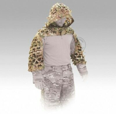 Crye Precision Compact Assault Ghillie, New, Multi Cam, Sniper Hood, Camouflage.