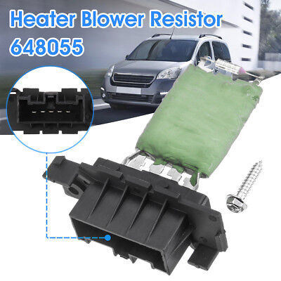 Heater Fan Blower Resistor For Citroen Berlingo Peugeot Partner 08-16 6480.55