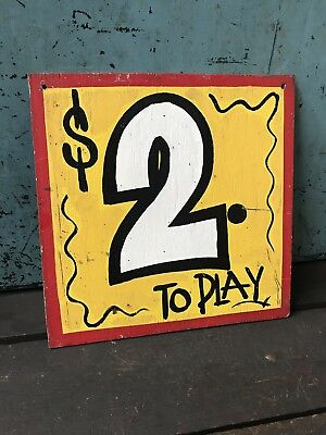 Vintage Amusement park sign ~ Painted Wooden Circus Sign ~ Carnival Sign