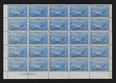 """Canada — Pane of 25 """"AIR MAIL SPECIAL DELIVERY"""" — 1946, Airplane #CE3 — MNH"""