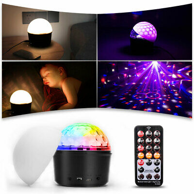 Disco Party DJ USB LED RGB Laser Crystal Magic Ball Stage Effect Light Lamp Show