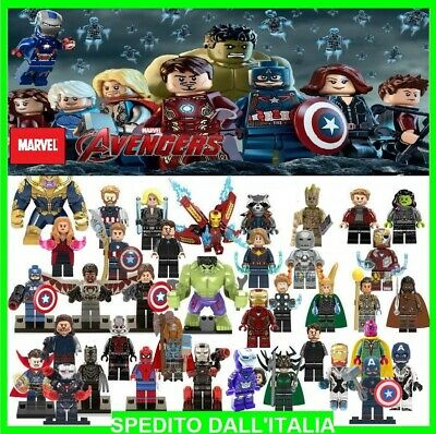Lego - Minifigures-Avengers- Personaggi - Super Heroes Marvel Comics Custom Like