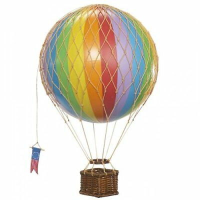 Authentic Models Travels Light Hot Air Balloon Colorful Rainbow Model AP161E