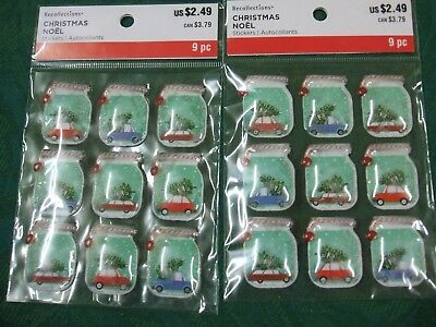 'Recollections 'Christmas Stickers  ''Car /Tree On Top In Mason Jars & Shakers