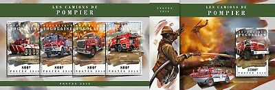 Z08 IMPERF TG18105ab TOGO 2018 Fire engines MNH ** Postfrisch Set