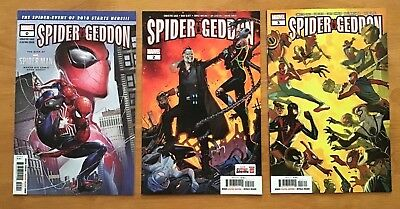 Spider-Geddon 0,2,3 2018 Main Covers Clayton Crain, Molina Covers  Marvel NM+