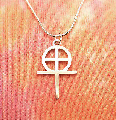 Coptic Cross Necklace, Stainless Steel Egyptian Christian Charm Pendant Gift Box