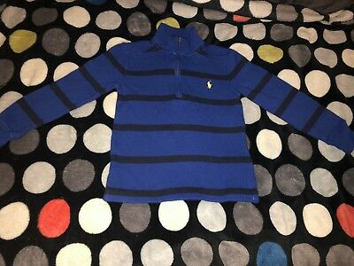 Polo Ralph Lauren Half Zip Pullover Sweater Blue Striped Toddler Size 2t