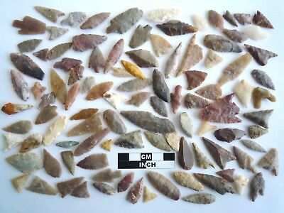 Neolithic Arrowheads x 100, Selection of Styles and Sizes - 4000BC - (1099)