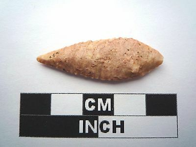 Neolithic Arrowhead 40mm, High Quality Saharan Flint Artifact - 4000BC  (1029)