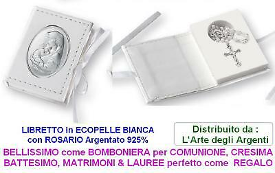 FAVOURS ROSARY + ROSARIO and slab MADONNA with BABY 925 SILVER% 10870