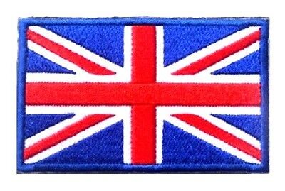 Union Jack Flag Patch UK GB England Embroidered Iron Sew On British Mod Britain