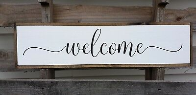 Farmhouse Wood Sign Love You More Rustic Wooden Home Decor Large