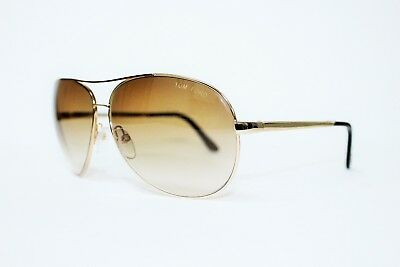 0eb330fc8e9495 Tom Ford TF35 772 Charles Oro Lenti Marroni Originale Occhiali da Sole  Aviator