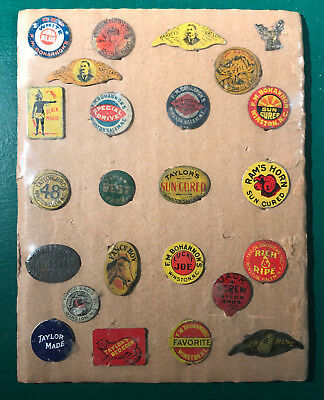 Antique Tobacco Tag Collection of 24 Tags North Carolina