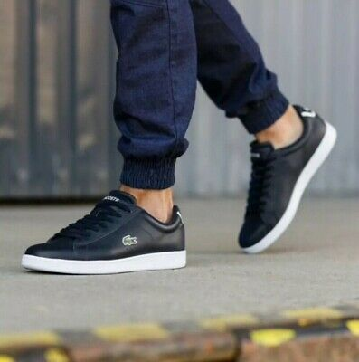 Lacoste Carnaby EVO BL 1 SPM Leather Trainers Navy (RRP:£75.00)