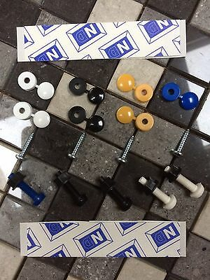 Number Plate Fixing Mounting Kit Incl Screws Sticky Fixers Caps & Covers 18x EU