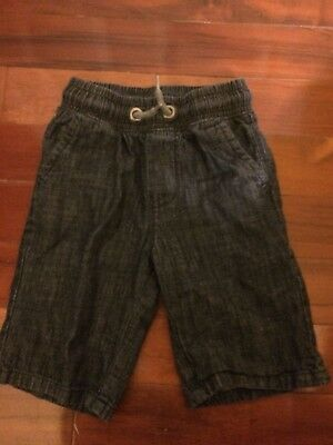 Boys Denim Shorts Jeans Dark Blue Next Pull On Size 6