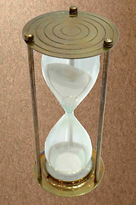 Vintage Brass Antique Finish Sand Timer Hourglass With Antique