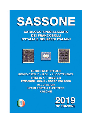 Sassone Italië 2019 catalogus Italy specialised catalogue Spezialkatalog Italien