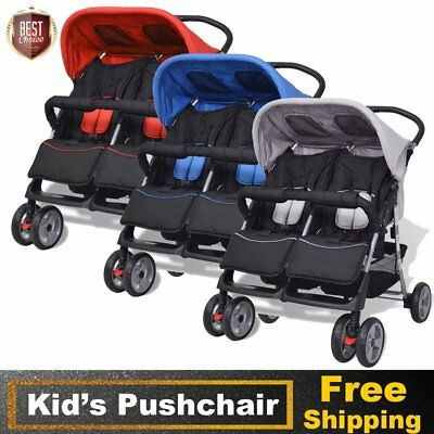 Baby Tandem Pushchair Pram Stroller Double Buggy Twins Child Portable Foldable