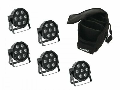 EUROLITE Set 5x LED SLS-7 HCL Spot + Soft Bag (Licht Bühne & Disco)