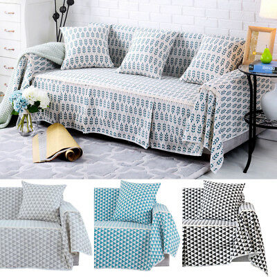 Cotton Blend Slipcover Chair Couch Sofa Cover Seat Protector for 1 2 3 4 Seater