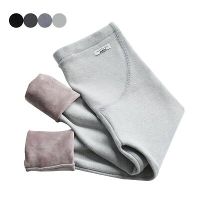 Pregnancy Comfortable Pants Leggings Thickened Plush Lining WInter Warm Trousers