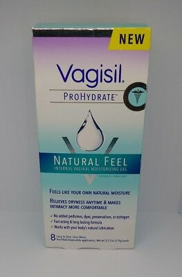 Vagisil Prohydrate Internal Moisturizing Gel 8 Applicators 24 Day Supply 5/2019