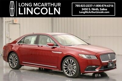 2018 Lincoln Continental SELECT PLUS TECHNOLOGY CLIMATE PACKAGE MSRP $54410 MOONROOF 3.7 V6 POLISHED 20 INCH WHEELS NAV HEATED REAR SEATS RUBY RED