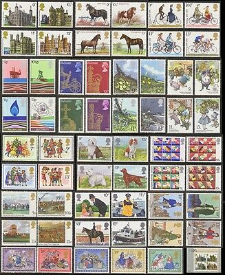 GB Stamps 1978-1979 – 14 Mint Commemorative Sets (57 Stamps plus 4)