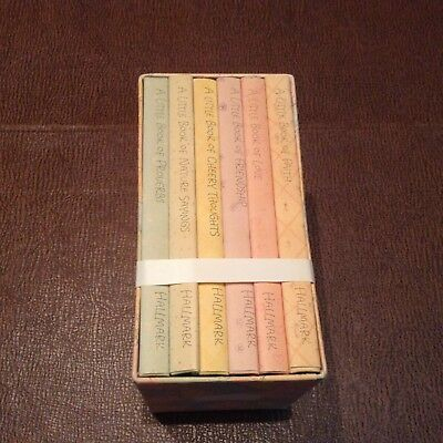 1974-Complete Set -6 Books w/ Holder-BETSEY CLARK-A LITTLE BOOK of-Hallmark RARE