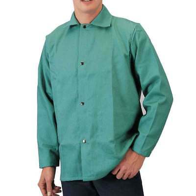 "Tillman 6230 30"" 9 oz. Green FR Cotton Welding Jacket, Medium"