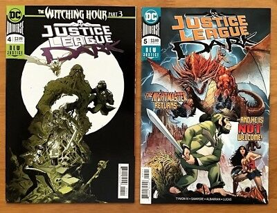 Justice League Dark 4,5 2018 A Covers Enhanced Foil Cover 1st Print DC NM+