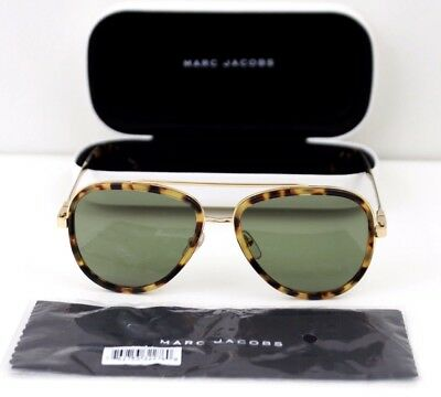 8fc248a10597 Marc Jacobs MARC 136 S 0LSHDJ Havana Aviator Sunglasses 56mm NEW with Case