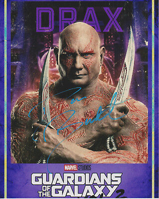 DAVE BAUTISTA Guardians of the Galaxy Actor Drax SIGNED 8x10 Photo