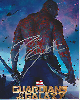 DAVE BAUTISTA Guardians of the Galaxy Actor Drax SIGNED 8x10 Photo b