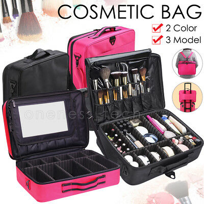 Professional Makeup Bag Case Cosmetic Brush Pouch Storage Organizer Travel Kit