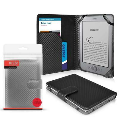 "ORZLY Case Amazon KINDLE BLACK Carbon Fibre Folio Case Wi-Fi, 6"" E Ink Display"